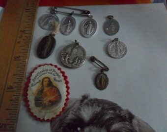9 Vintage Religious Findings - Lady of Fatima and more - Made in Italy
