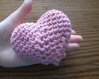 Medium 3 Dimensional Amigurumi Crochet Heart