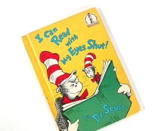 """Vintage Dr. Seuss Book """"I Can Read with My Eyes Shut!"""""""