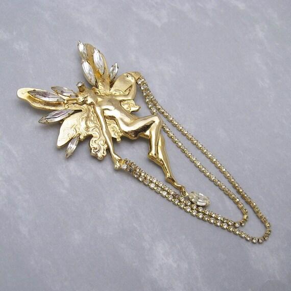 kirks folly brooch vintage jewelry by purpledaisyjewelry