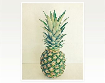 Pineapple Art Print, Food Photography, Tropical Fruit Print, Kitchen Decor - Pineapple