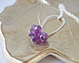 Scots Thistle - Silver and Amethyst Necklace