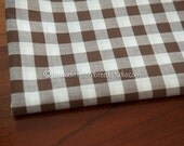 Big Brown Gingham- Vintage Fabric Juvenile Traditional Doll Making Nursery Baby 36 in wide