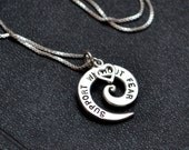 Support Without Fear Spiral Heart Necklace