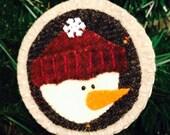 Wool Snowman Christmas Ornament