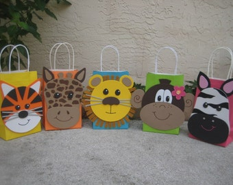 Jungle Animal Birthday Party Favor Bag