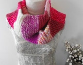 Hand Knitted Scarf for Women Teenagers Warm Winter Accessory