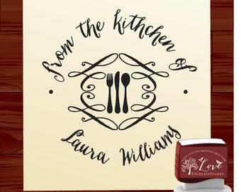 Custom SELF INKING From the kitchen  of   Custom Rubber Stamp - Personalized  Stamp- Style 1503A