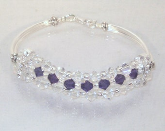 Swarovski Crystal Wedding Jewelry - Bridal or Birthstone Bracelet - Any Color - SHIPS WITHIN 24 HRS