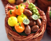 Miniature Fruit and Veggies Polymer Clay Foods Supplies for Dollhouse 1 piece