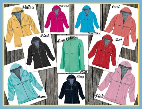 Monogrammed Rain Jacket - Personalized Adult Sizes