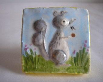 Sweet Squirrel Knob, Drawer Pull, Handle