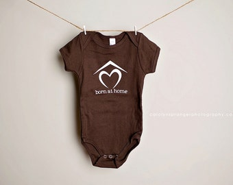 Born At Home baby one-piece (brown, RTS)