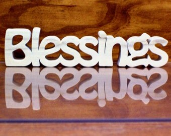 Blessings Sign, Blessing Wood Sign, Blessing Shelf Sitter, Unfinished