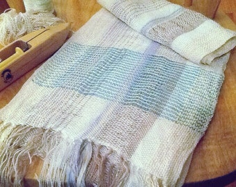 Number 6 Handwoven Scarf