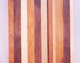 Mixed Woods Edge Grain Cutting Board - FREE Shipping - In Stock Ready To Ship