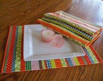 Place Mats Summer Stripe Handmade Home Decor Kitchen Decor