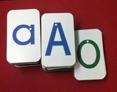 Sandpaper Letters, Uppercase, Lowercase and Numbers mounted on Fiberboard Wood