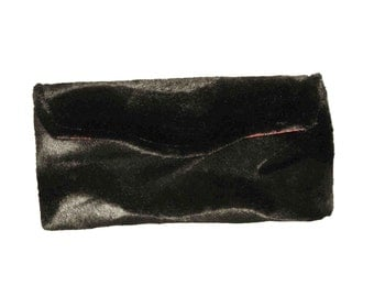 Black Elegance Faux Fur Clutch