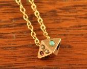 Antique Slide Necklace, Vintage Pendant, Antique Pendant, Valentine's Day Gift, Opal Necklace, Garnet Necklace, Pearl Necklace, Antique Gift