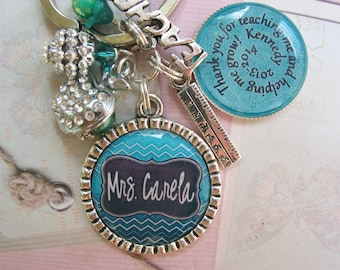 Personalized Teacher's Keychain, end of year gifts, christmas gifts