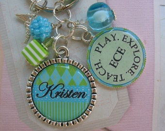 Personalized, Customizable keychain for Early Childhood Education, Speech Therapy,Occupational Therapy