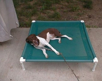 Mesh Dog Cot, Raised Dog Bed, RV Camping Dog Bed, 8 Mesh Colors, 36x36x8 Small To Medium Dogs Up To 80 Pounds.
