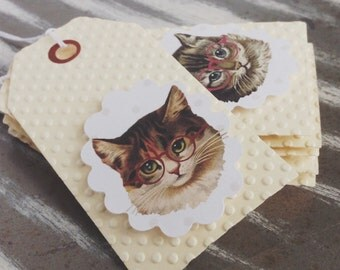 Kitsch Kitties Gift Tags x 6