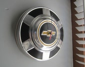 Vintage 1970's Chevy Truck Hubcap Clock no.2363