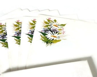 Vintage Daisy Stationery Paper and Envelopes