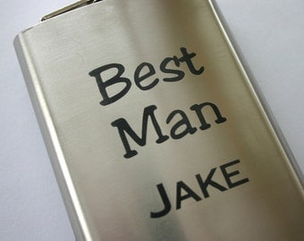 Personalized 8oz Laser Engraved Flask Custom Engraved Stainless Steel Flask