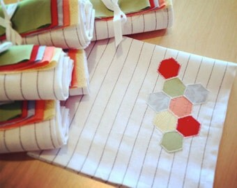 Applique Napkins Fabric + Pattern Sewing Kit for two napkins