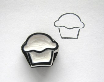 Cupcake small rubber stamp
