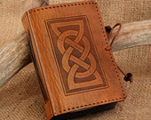 Mini - Celtic Friendship Knot Hand Bound Leather Journal