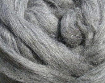 Grey Gotland Wool Top, 1 lb for spinning and felting