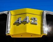 1970 Oldsmobile 442 Muscle Car Logo Fine Art Print- Car Art, Antique Car, Home Decor, Nursery Decor, Wall Art, Vintage Car