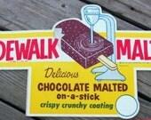 VINTAGE NOS Sidewalk Malted Decal
