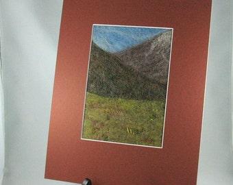 Needle Felted Landsape, Yukon Fireweed
