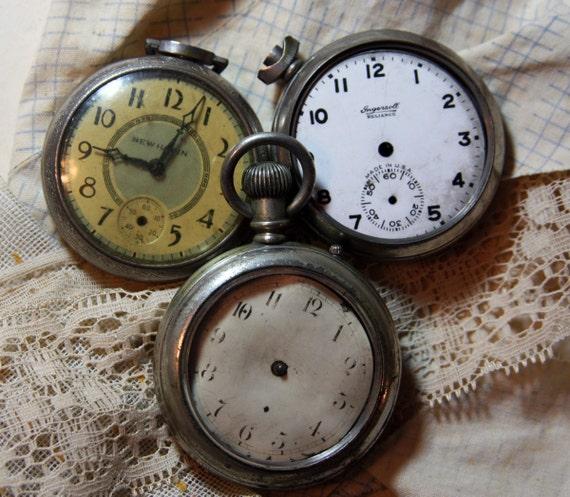 vintage pocket dollar watches ingersall new