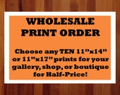 Wholesale Prints, Ten 11x14 or 11x17 Prints, Bulk Order, Wholesale Art, Boutique Wholesale, Whimsical Gifts, Quirky Gifts, Bundled Wall Art