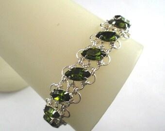 More Colors - Navette Petals Bracelet with Swarovski Crystals