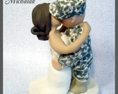 Military Wedding Cake Topper - Kiss