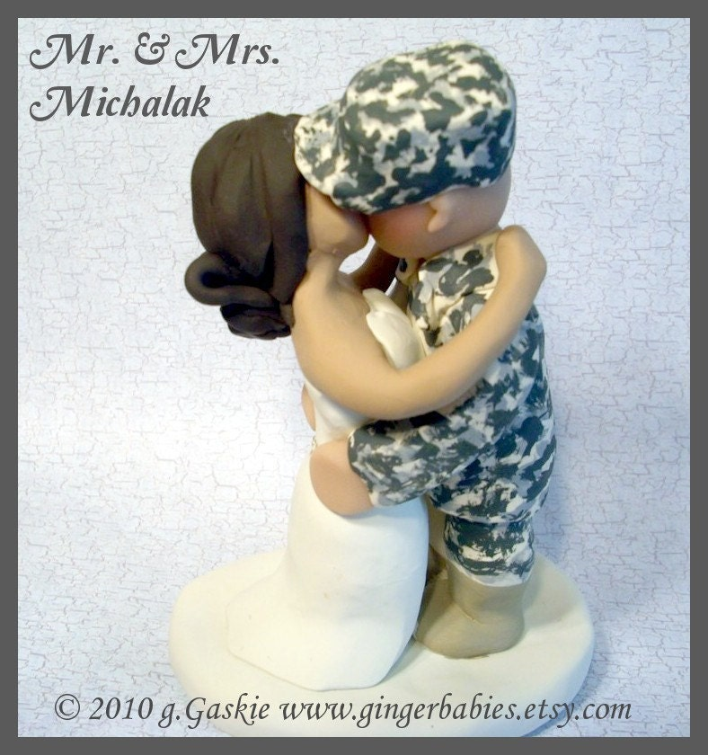 military wedding cake toppers wedding cake topper by gigiscaketoppers on etsy 17372