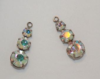 Swarovski Crystal AB silver plated graduated drop  25mm by Carol Wall Swarovski crystal destashing