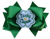 Lucky Charm 4.5 inch Grosgrain Bow