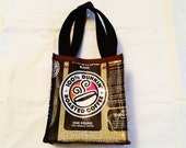 Fun Eco Friendly Purse made with Recycled Coffee bags upcycled repurposed gift idea