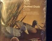 Vintage sewing kit. Calico stuffed duck kit.