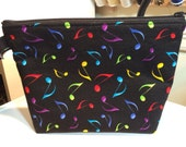 Bright Musical Notes Little Bit Wristlet Bag