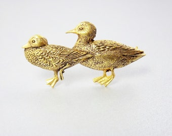 Duck Brooch, Duck Pin, Figural Jewelry, MFA Museum of Fine Arts Jewelry, Animal Bird Pin