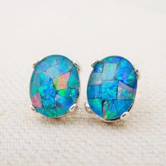 genuine opal earrings opal gemstone earrings australian